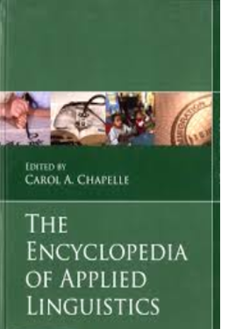 Cover of the Blackwell Encyclopedia of Applied Linguistics