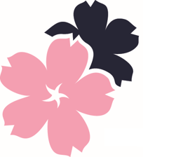Placeholder image of pink and blue flowers