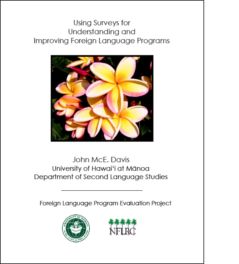 Cover of Using surveys for understanding and improving foreign language programs PDF