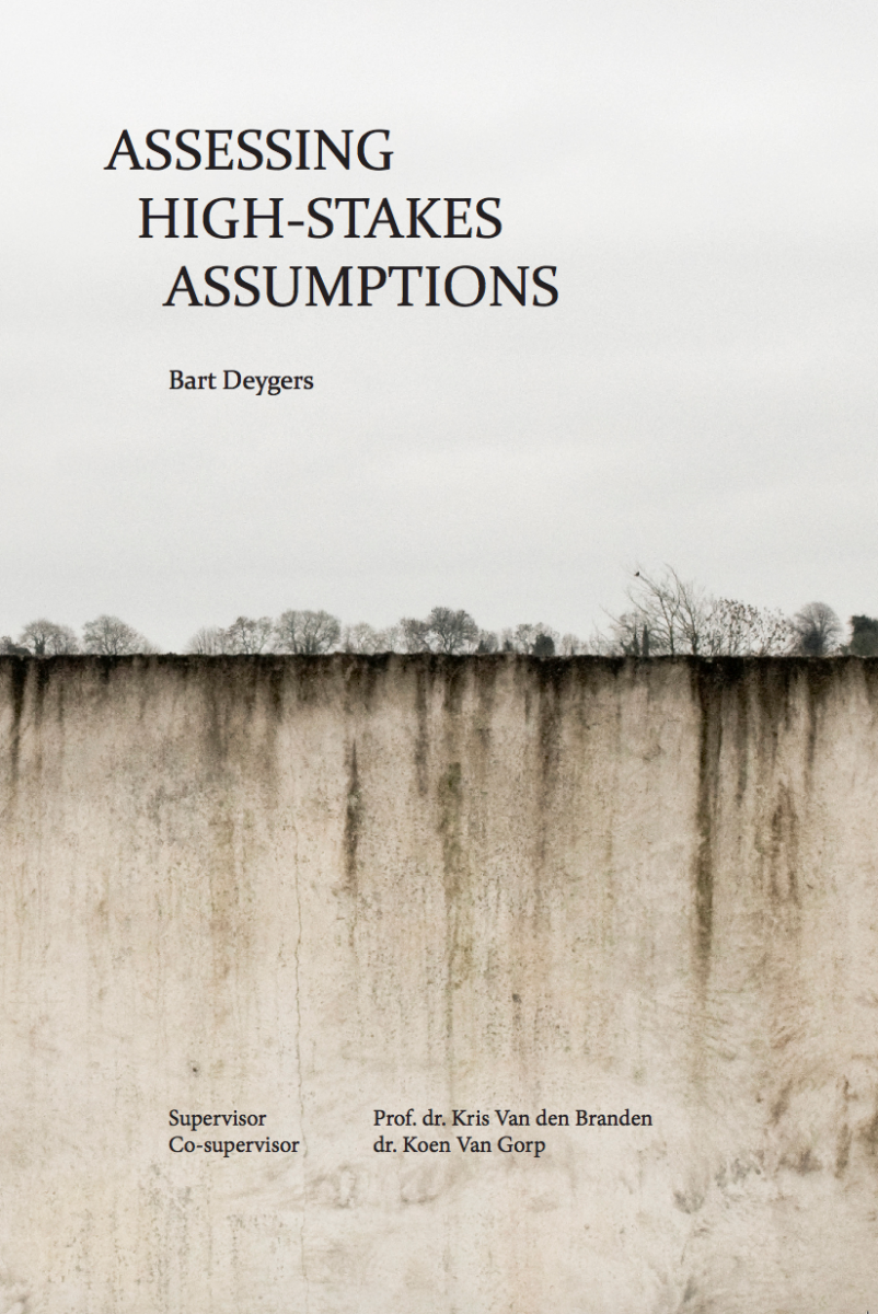 "Cover of Deygers' ""Assessing High-Stakes Assumptions"""