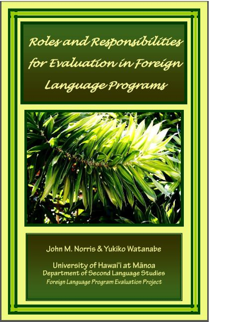 Cover of Roles and responsibilities for evaluation in foreign language programs