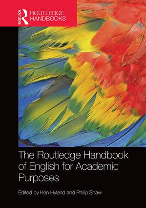 Cover of the Routledge handbook of English for academic purposes