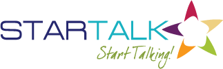 "Logo for STARTALK with tagline ""Start Talking!"""