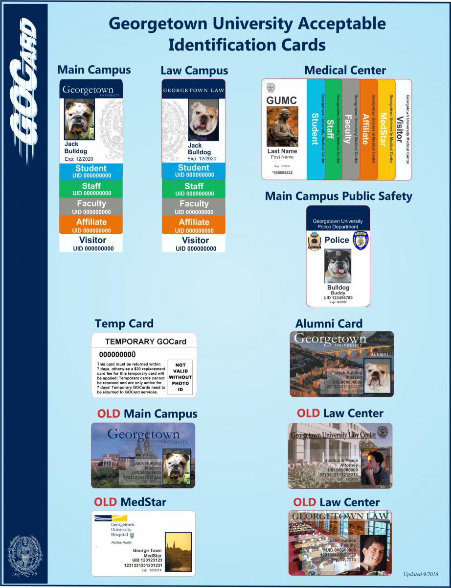 Examples of Georgetown University Identification Cards