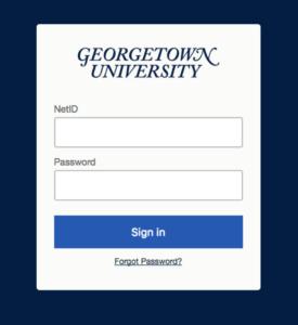 Georgetown shibboleth login page