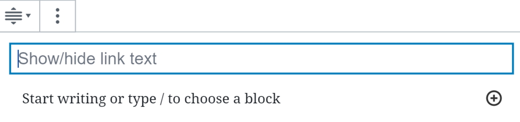 A user is filling out an expandable content block.