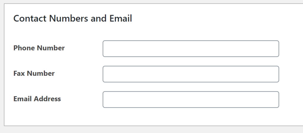 The contact information field.