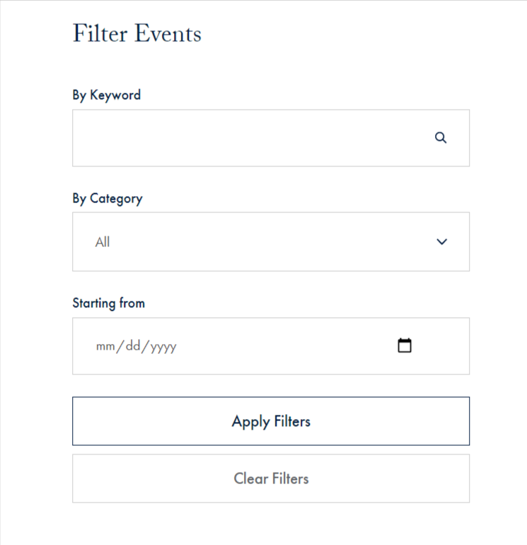 Filter Events